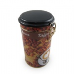 Round shaped coffee tin box with air-tight lid